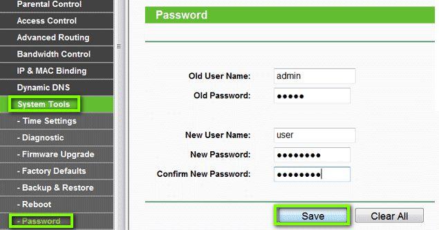 Меняем пароль в роутере TP-Link