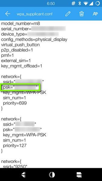Находим пароль от Wi-Fi в файле wpa_supplicant.conf