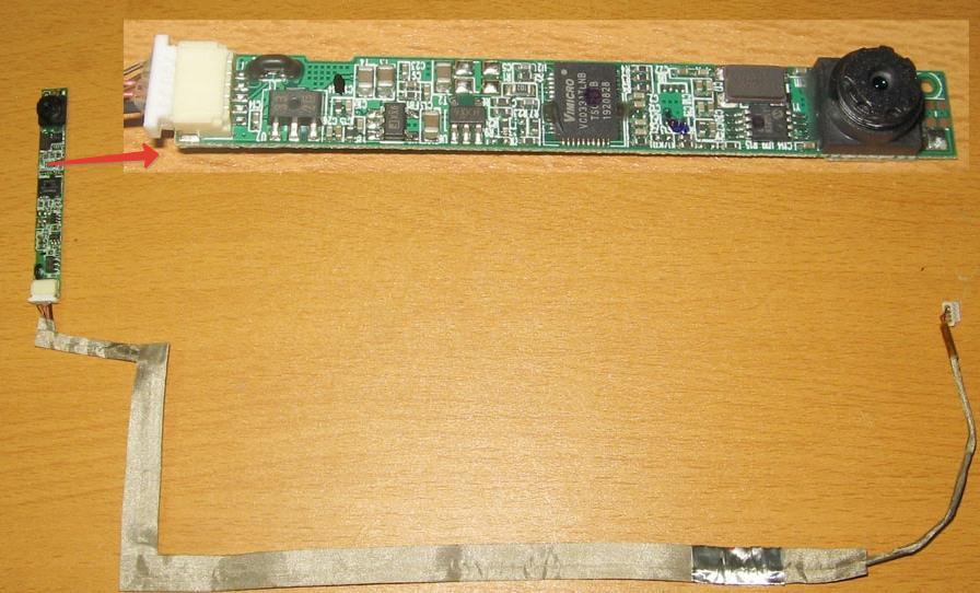 Шлейф и модуль веб камеры ноутбука