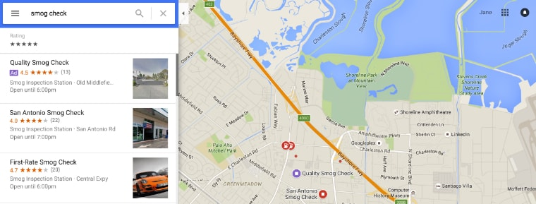 поиск в google картах