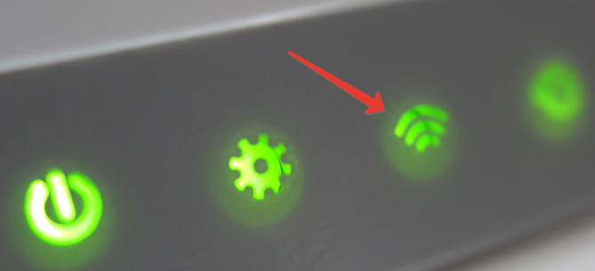 Лампочка Wi-Fi на роутере