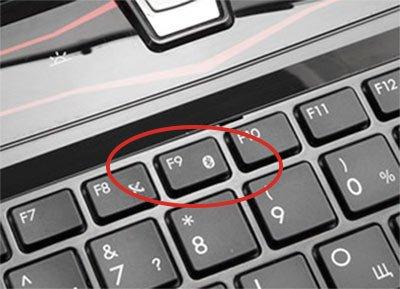 Включение Bluetooth через функциональные клавиши
