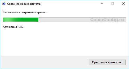 Процесс создания архива
