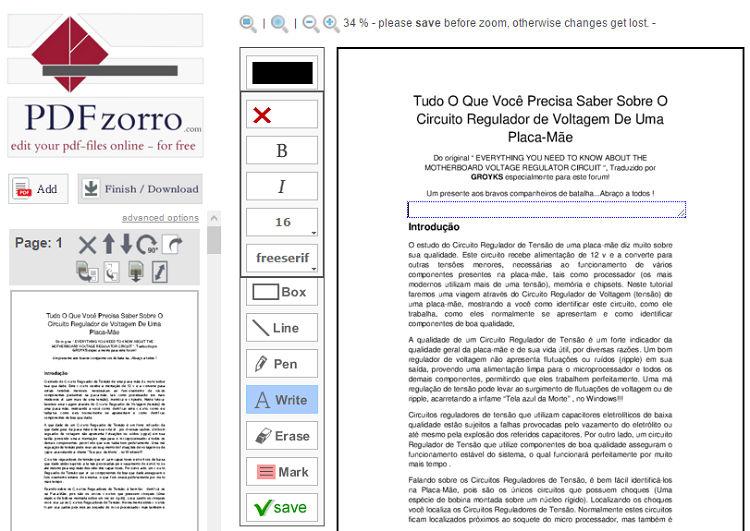Изменение текста в PDFzorro