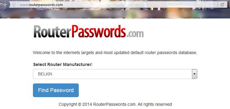 Если забыли пароль от роутера - воспользуйтесь сайтом routerpasswords.com
