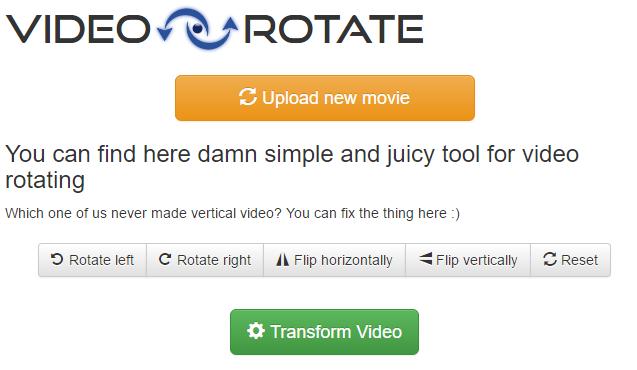Онлайн сервис VideoRotate.com