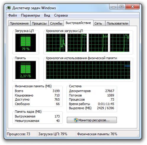 оценка быстродействия компьютера