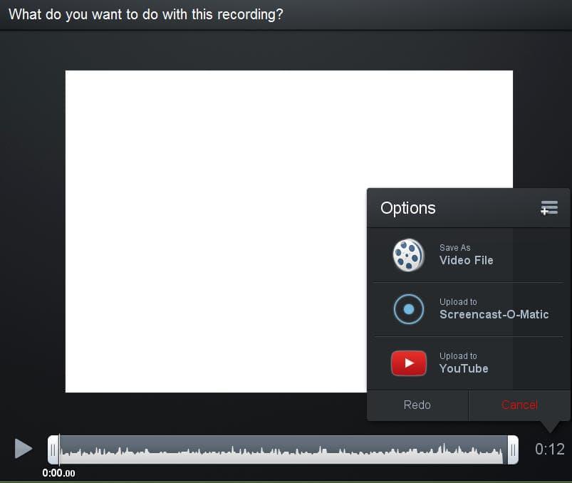 сохранение записи