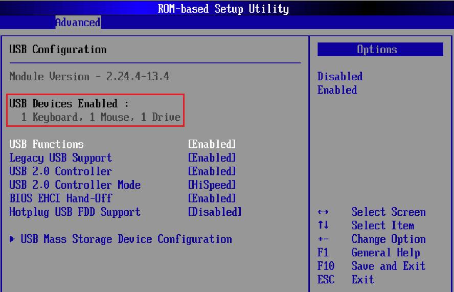 включение USB в BIOS