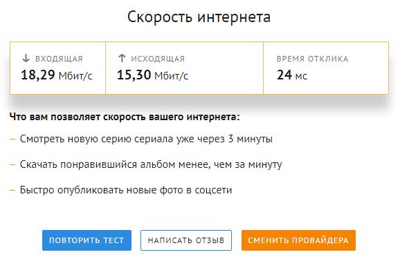 проверка скорости интернета в banki.ru