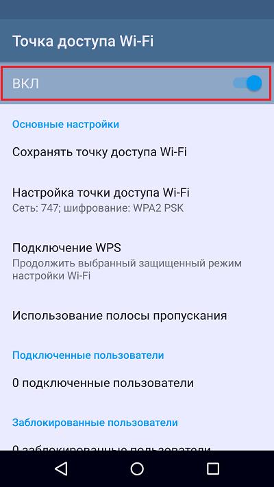 запуск точки доступа wi-fi