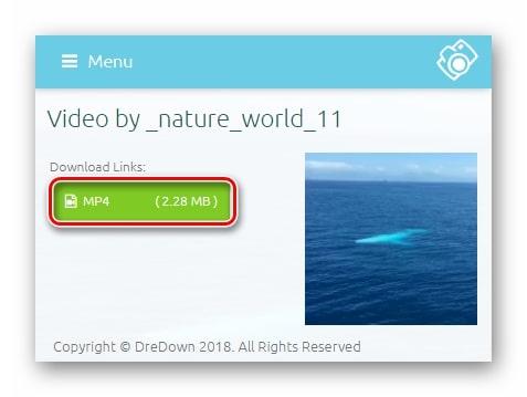 Как сохранить себе видео из инстаграмма