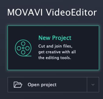 новый проект movavi