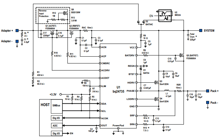схема подключения BQ24735