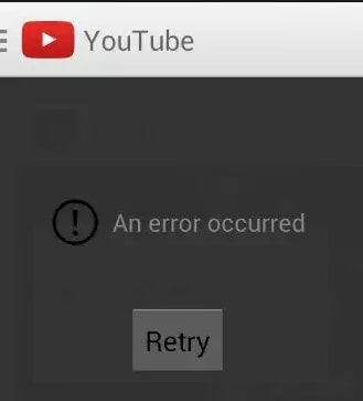 ошибка работы youtube