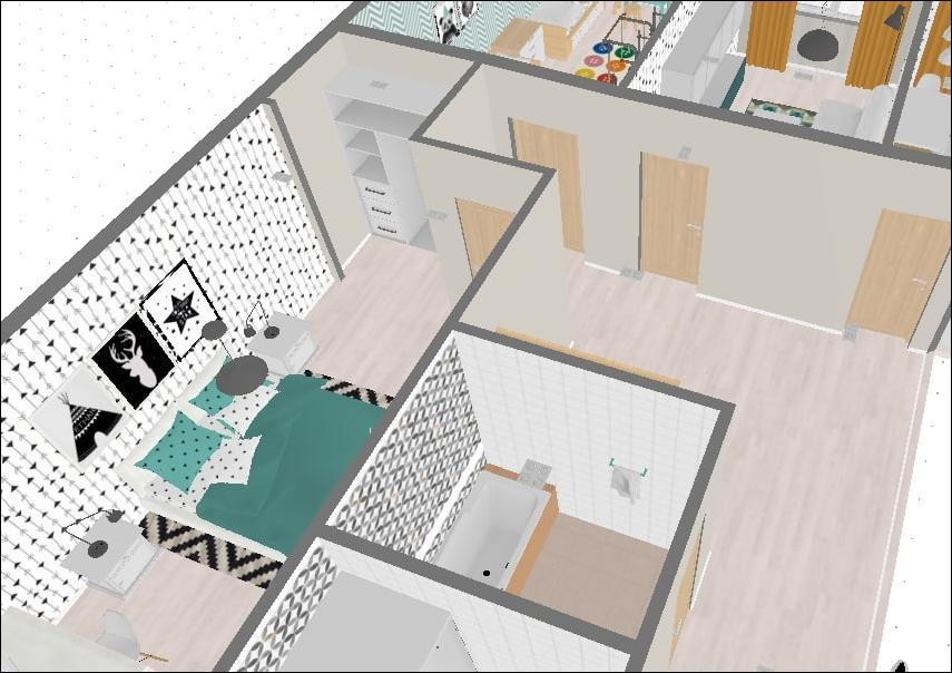 трёхмерный проект квартиры