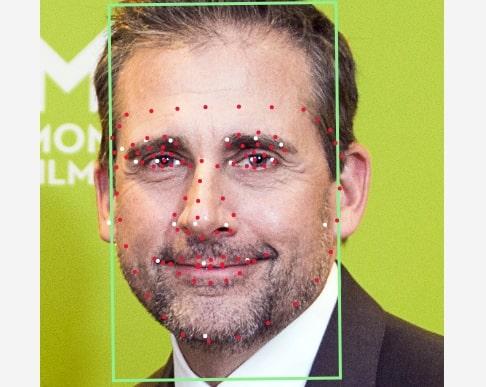 автоматическое выделение элементов лица