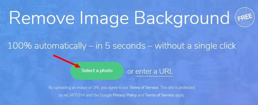 кнопка Select a photo