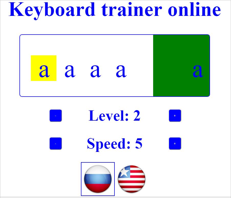 Keyboard trainer online
