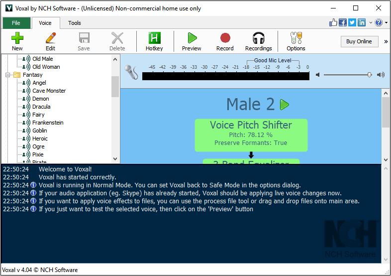 Voxal Voice Changer