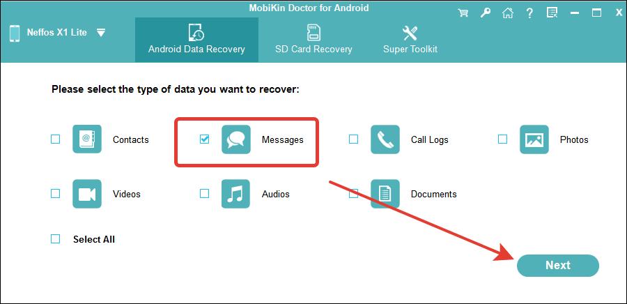 восстановление смс на андроид