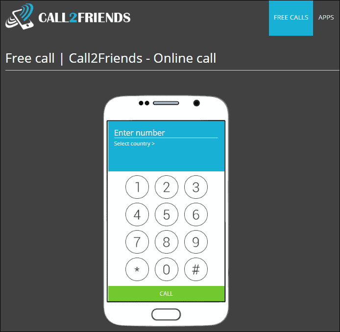 сервис Call2friends