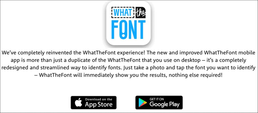 WhatTheFont в App Store и Play Market