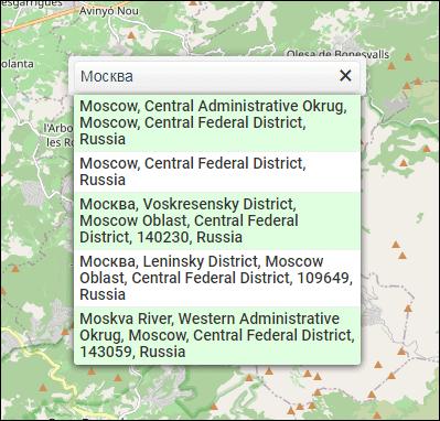 выбор города в OSMCompass