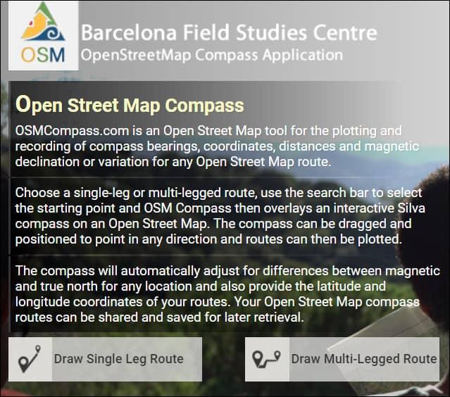 выбор режима компаса Open Street Map Compass