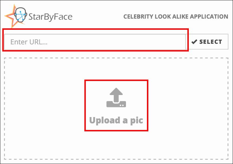 загрузка фотографии в StarByFace