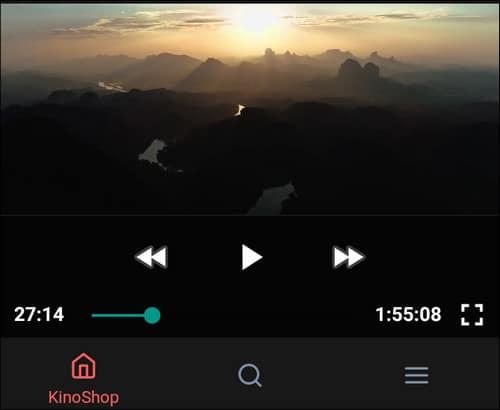 просмотр фильма в приложении kinoshop