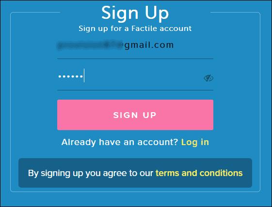 регистрация в Factile