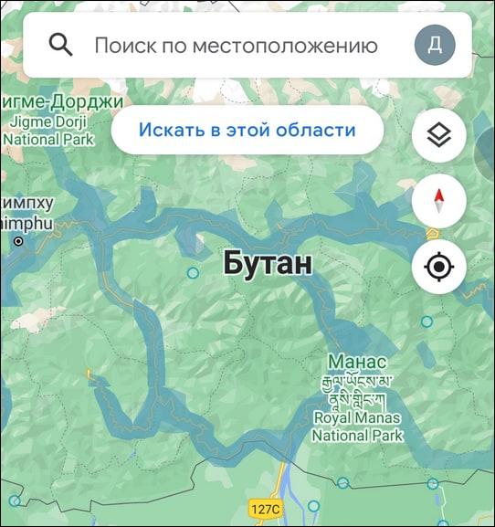 поиск места в Google Street View