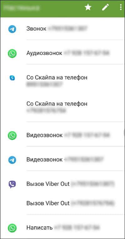 список мессенджеров привязанных к телефону